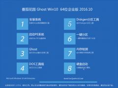 番茄花园Ghost Win10 64位经典企业版2016.10(自动激活)