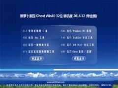 新萝卜家园Ghost Win10 X32位 专业装机版v2016年12月(绝对激活)