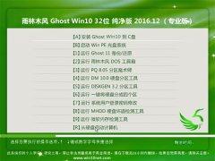 雨林木风Ghost Win10 X32位 电脑城纯净版v201612(永久激活)