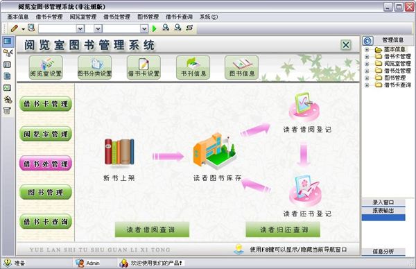 宏达阅览室图书管理系统 V1.0
