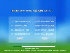 雨林木风Ghost Win10 32位 稳定纯净版v2017.11(永久激活)