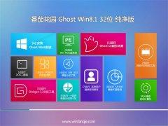 番茄花园Windows8.1 32位 多驱动纯净版 2021